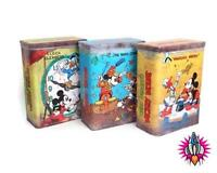 CLASSIC OFFICIAL DISNEY MICKEY MOUSE METAL KITCHEN BEDROOM STORAGE TIN CONTAINER