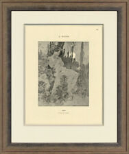 "Rare, Original 1898 ""June"" by Alphonse Mucha for Cocorico, Custom Framing"