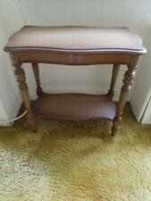 ANTIQUE Depression Era Wood Carved End Side Table 1930's with NRA Label est $795