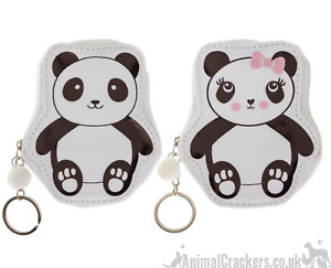 Zipped PANDA COIN PURSE KEYRING child wallet bag decoration Panda lover gift