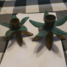 brass leaf candle holder