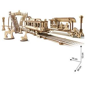 Ugears - Wood Model Building Tram Line Streetcar Station Bridge 284 Pieces