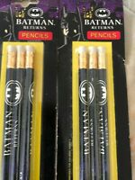 2 Sets of (3) 1991 Batman Returns Pencils New sealed back to school