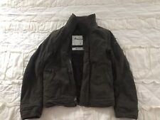 Kids Small Abercrombie & Fitch Adirondack Jacket Drab Green Faux Fur Lining