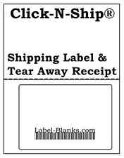 100 - USPS Click-N-Ship with Tear Off Receipt.  Shipping Labels Address Barcode