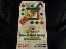 Mattel Blurt! Card Game Travel Edition w/ a Junior Version - Game of Word Racing