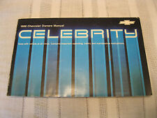 1988 Chevrolet Celebrity Owners Owner's Manual