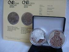República Checa 2009 200 coronas moneda de plata coin pp proof-rabino Jehuda löw -