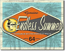 Endless Summer In Search Of The Perfect Wave Surfboard Fin Beach Metal Sign