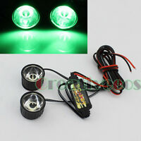 2x Round 12V Bike Motor Decorative Strobe Flash Flashing Warning LED Light Lamp