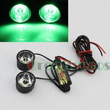 2x Round 12V Bike Motor Decorative Strobe Flash Flashing Warning LED Light Lamp