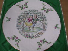 Royal Doulton Christmas Plate 1977 Skaters 1st Series includes Box