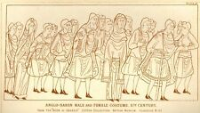 "Planche - Cyclopedia of Costume -1876- ""ANGLO SAXON"""
