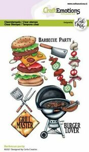 Motiv-Stempel Clear stamp Barbecue Party Grillen Fest CraftEmotions 130501/1511