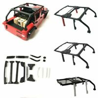 For 313mm Wheelbase 1/10 RC Car Axial SCX10 II Jeep Wrangler Body Shell Roll Bar