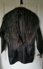 Faux fur racoon tail style collar