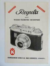 366 Feuillet pub - Appareils photos Régula ID & IID - Viseur télémètre - Germany