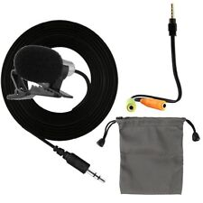 External Clip-on Lapel Lavalier Microphone Mic For CellPhone Computer Recording