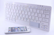 Bluetooth Cordless Keyboard with Touch Pad for Tablet Smart Phone Laptop PC W