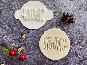 Spooky | Halloween | Embossing Stamp | ebs135 | Cupcake | Fondant Cake