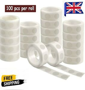 100 Adhesive Dots Tape Double Sided Glue Sticky  Sticker DIY Balloon Clear Decor