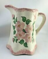 Vintage CASH FAMILY Pottery Sm. Creamer Pitcher Hand Painted Pink Green