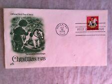 UNITED STATES USA 1978 FDC ART CRAFT CHRISTMAS ROCKING HORSE