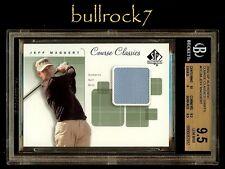 JEFF MAGGERT 2002 SP Authentic Golf Course Classics Shirt BGS 9.5 R1331
