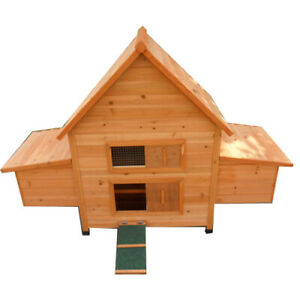 Chicken Coop Classical  Brand New Chook House Hutch with double Egg Cages P022