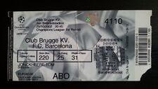 # Ticket CLUB BRUGGE - BARCELONA FC 2002/03 Champions League Belgium Spain