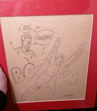 Captain Marvel - Shazam! Original Pencil Sketch Art by C.C. Beck Splash Pg 1973
