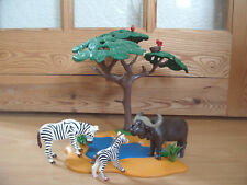 Playmobil 100% Completo Conjunto 4828 búfalo de agua & cebras Safari Pozo