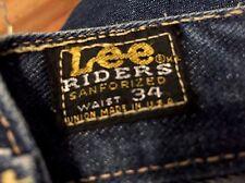 Vintage 1960's LEE RIDERS Redline Selvedge Blue Denim Jeans. Size 33