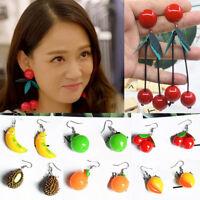 Women Lovely Cherry Fruit Pendant Drop Ear Hook Stud Earrings Jewellery Gift
