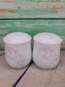 Pepper Shakers in Art Nouveau Style Milk Glass Salt