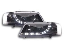 Audi A3 (1995-2000) Black DRL Devil Angel Eyes Front Headlights Lights - Pair