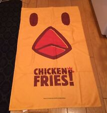 2018 Burger King Crispy Pretzel Chicken Fries Towel Banner Promo Item NEW