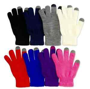 6 Pairs Men's Women Magic Touch Screen Knit Gloves Smart Phone Tablet ONE SIZE