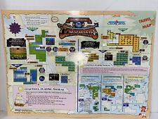 The Magic Of Scheherazade Nintendo Map/Poster NO NES Game FREE SHIPPING