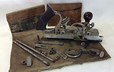 Classic Stanley 45 Plane With 2 Boxes Of Cutters & Attachments