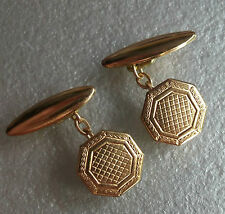 Cufflinks MENS Cuff Links NEW GOLD TONE Vintage 1930s 1940s 1950s ART DECO