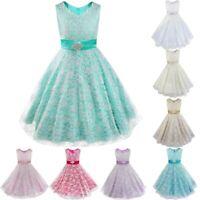 Mädchen Kinder Kleid Brautjungfer Hochzeit Kleider Abendkleider Kommunionkleid