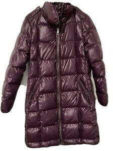 Women's BURBERRY Brit Black Belted Quilted Down Puffer Jacket Coat Size S