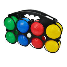 Set 8 Plastic French Boules Balls Petanque Jack Carry Case Garden Beach Games