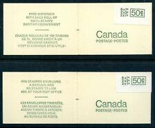Weeda Canada BK68ai, BK68bi VF set of Large sticker experimental booklets CV $70