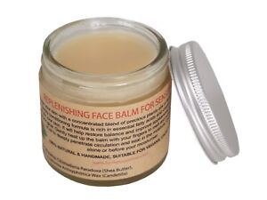 Replenishing Face Balm For Sensitive Skin, 100% Pure Rosehip & Argan Oil, 60ml