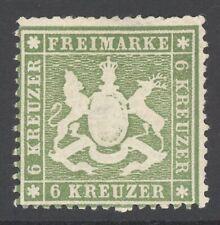 Württemberg Mi. Nr. 18 yb* ungebraucht Befund Heinrich BPP 750 Euro