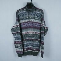 WESTWOOD CASUAL Vintage Mens Far Isle 100% Wool Sweater Jumper SIZE Large, L