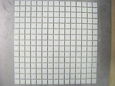SHEETS OF 225 VITREOUS GLASS MOSAIC TILES PLAIN WHITE
