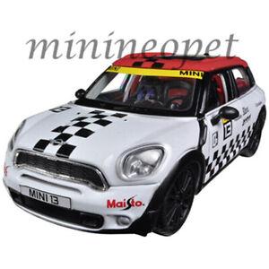 MAISTO 31367 ALL STARS MINI COOPER COUNTRYMAN #13 1/24 DIECAST MODEL CAR WHITE